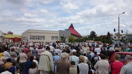 corpus: Corpus Christi Day, Gdansk Zaspa, Poland. Stock Photo