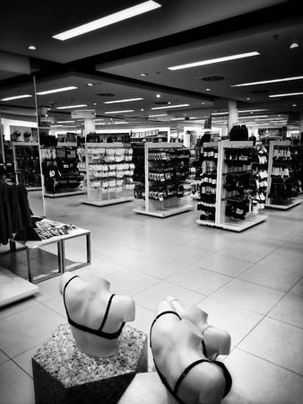 clothes: Shop interior Stock Photo