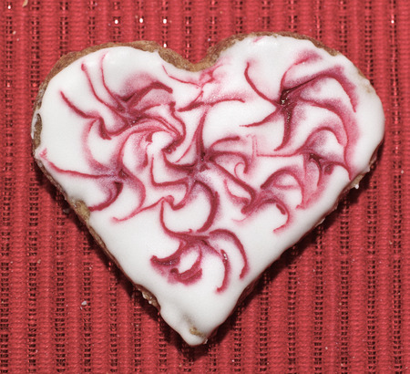 gingerbread cookies: Gingerbread cookies hearts love for Valentine day. Stock Photo