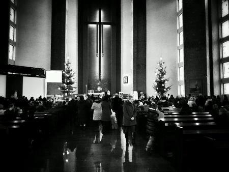 Catholic Church. People at the Eucharist. Stock Photo