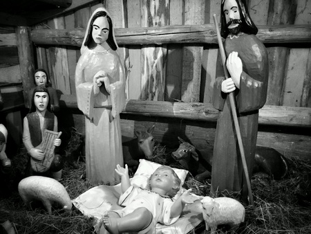 creche: Christmas creche.