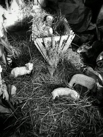 guardería: Guardería de Navidad. Foto de archivo