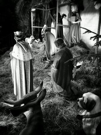 guarder�a: Guarder�a de Navidad en la iglesia cat�lica. Foto de archivo