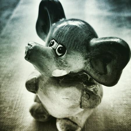 duotone: Valentine elephant. Artistic duotone style.
