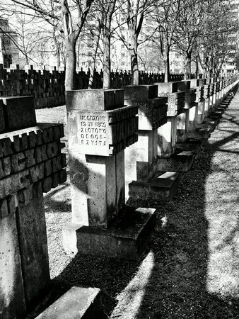 nazism: Cemetery monuments of Zaspa Heroes. Victims of Nazism and World War II.