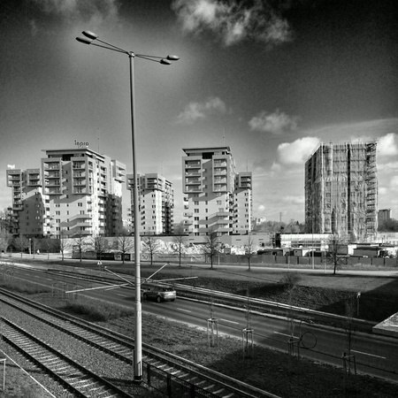 architecture: Architecture of Gdansk Zaspa, Poland.