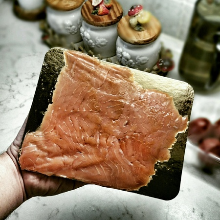 morning breakfast: Morning breakfast, tasty salmon.