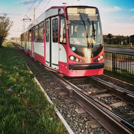 tramline: Transport city traffic. The tram.