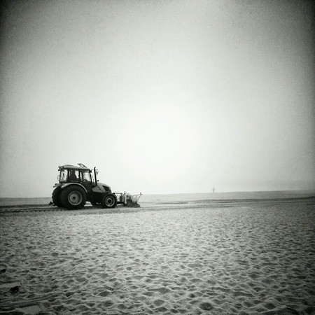 plowing: Plowing the beach.