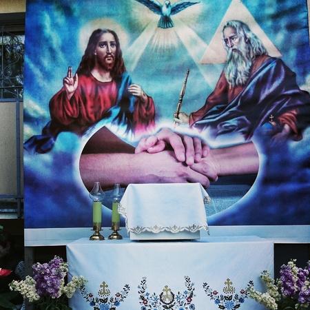 corpus: Corpus Christi Day in Poland. The Altar.