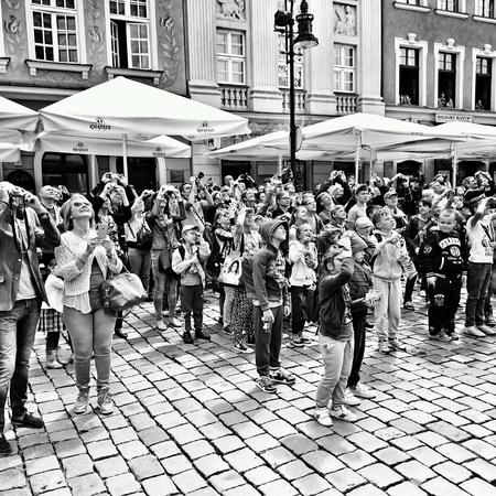 poznan: Sightseeing Poznan. Old town district. Poznan, Poland.