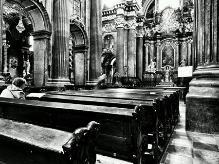 interior: Interior Catholic Church.  Poznan, Poland.