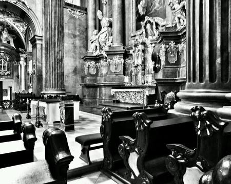 interior: Interior Catholic Church.  Poznan, Poland.
