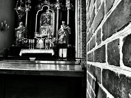 interior: Interior Catholic Cathedral in Poznan, Poland.