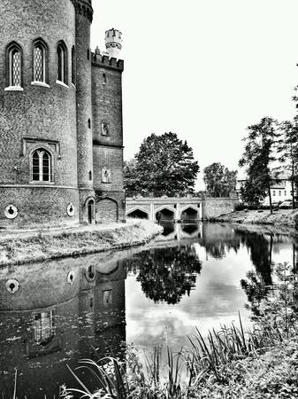 white: Medieval castle in Kornik, Poland. Stock Photo