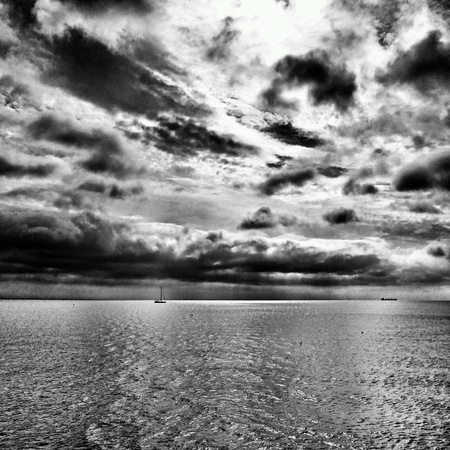 skyscapes: Gulf of Gdansk, Baltic sea.