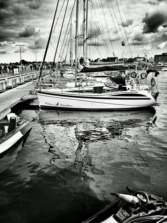 multimodal: Marina on fishing port, Hel, Poland.