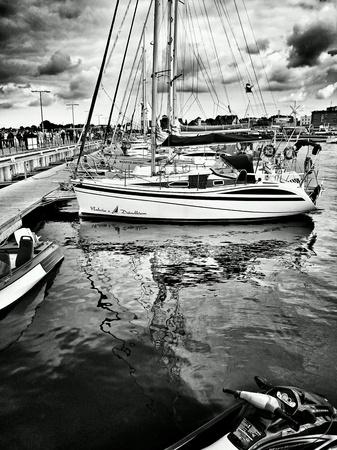 multimodal: Marina on fishing port, Hel, Poland.