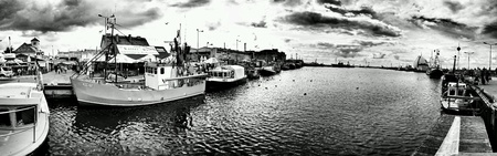 multimodal: Fishing port, Hel, Poland.