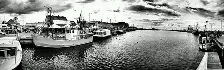 multimodal: Fishing port, Hel, Poland.