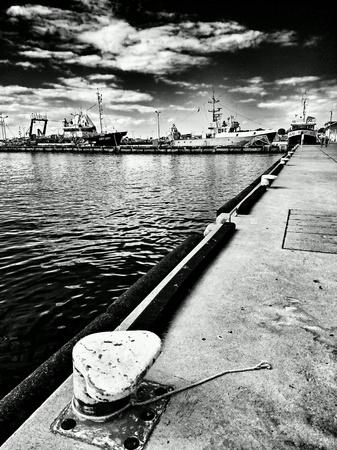 multimodal: Fishing port in Hel, Poland.