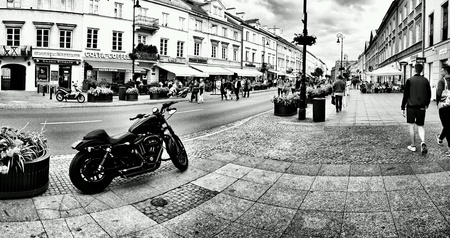 white: Sightseeing Warsaw, tourism in the capital of Poland. Warsaw, Poland.