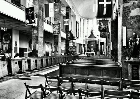 detail: Catholic religious architecture. Saint Stanislau Kostka church. Zoliborz Warsaw, Poland.