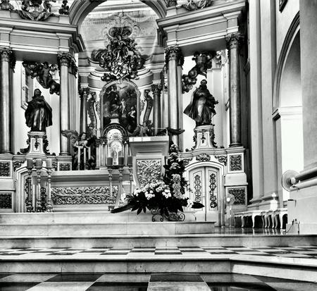 detail: Catholic religious architecture, church interior. Saint John Cathedral. Warsaw, Poland.