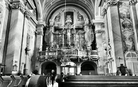 architecture: Catholic religious architecture, church interior. Saint Anna church. Warsaw, Poland.
