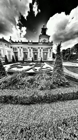 wilanow: Sightseeing Warsaw, Royal Palace in Wilanow, Warsaw, Poland. Stock Photo