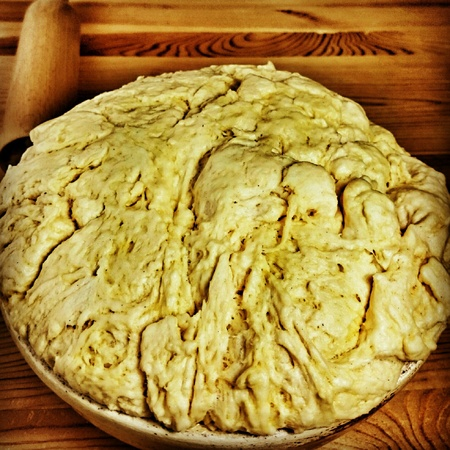 seson: Prepare cabbage cookies. Traditional Polish Christmas Eve dish.