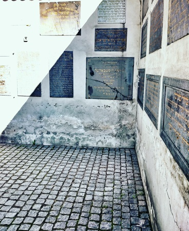 kazimierz: Old Jewish Cemetery in the old city in Krakow. Krakow, Kazimierz, Poland.