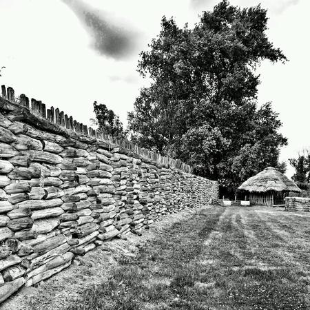 settlement: Settlement prehistoric reconstruction Pre-Slavian buildings in Biskupin, Poland.