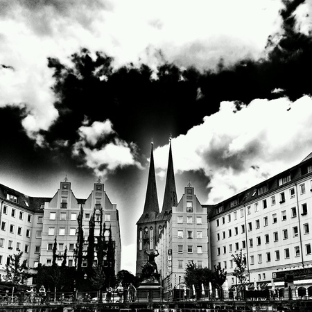 architecture: Berlin sightseeing. View from boat on the river Spree. Beautiful  architecture in German capital.