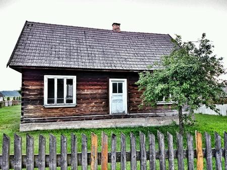 architecture: Polish village vintage architecture. Stock Photo