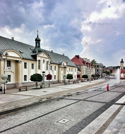 architecture: Old town architecture in Bialystok, Poland.