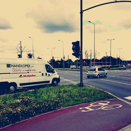 tramline: City life, Gdansk Brzezno, Poland. Stock Photo