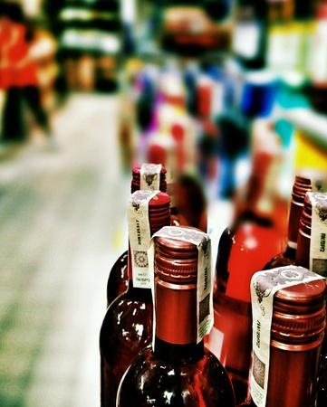 black white red: The wine. Stock Photo