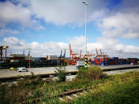 Container terminal in Gdynia, Poland.