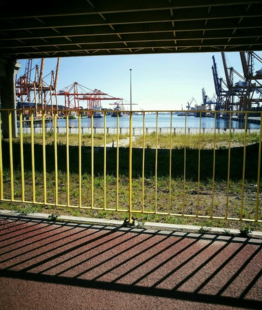 multimodal: Container terminal in Gdynia, Poland.