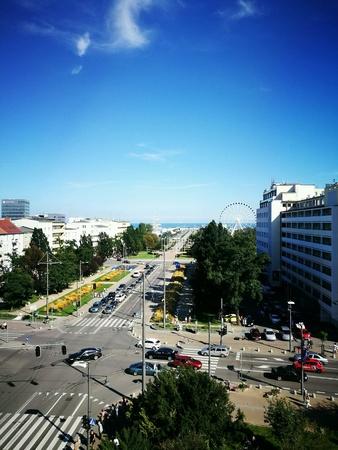 poland: Panorama of Gdynia, Poland.