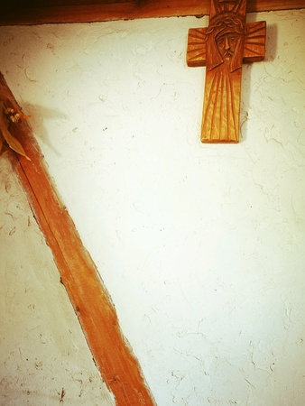 crucifixes: Feature domestic crucifixes. Stock Photo