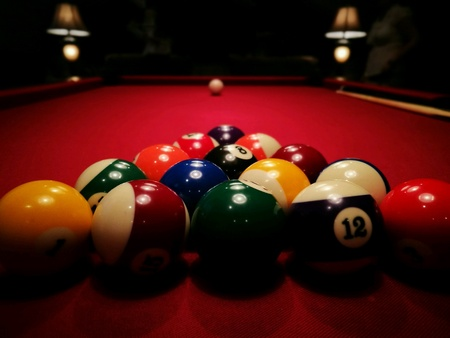 9 ball: The pool game.