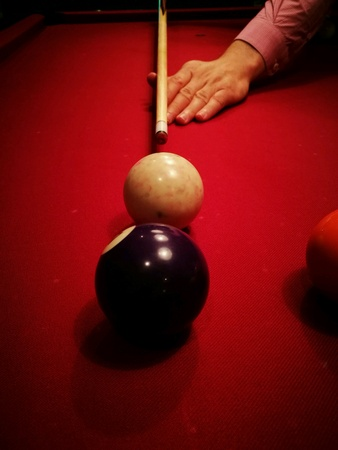 pool game: The pool game.