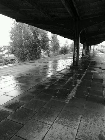industrial: Abandoned railway station. Gdansk Brzezno, Poland.