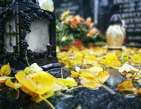 Autumn on the Catholic cemetery.