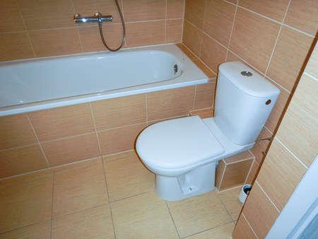 Modern bathroom, Artistic look in colors. Archivio Fotografico