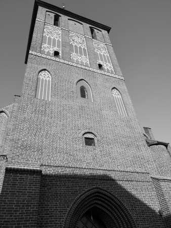 Saint John the Evangelist and Our Lady of Czestochowa church in Bartoszyce, Poland. 版權商用圖片