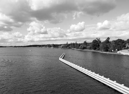 Drawbridge over the Dead Vistula river in Sobieszewo, Poland