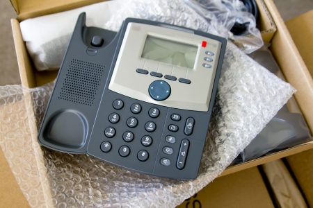 New VoIP phone in package photo